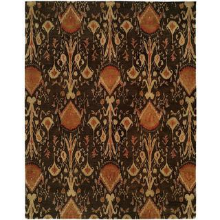 Heirloom Brown Wool Hand-tufted Area Rug (5' x 8')