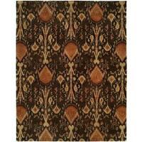 Heirloom Brown Wool Hand-tufted Area Rug - 8' x 10'