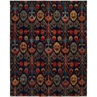 Heirloom Navy Hand-tufted Wool Area Rug (6' Round) - 6'