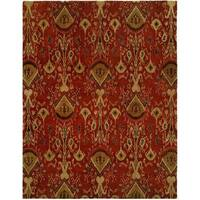 Heirloom Red Hand-tufted Area Rug - 9' x 12'