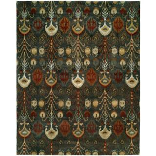 "Heirloom Slate Green Wool Hand-tufted Area Rug (2'6 x 10') - 2'6"" x 10'"