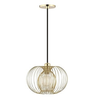 Mitzi by Hudson Valley Jasmine 1-light Polished Brass 12-inch Pendant