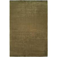 Nova Summer Tan Viscose Handmade Area Rug (9' x 12') - 9' x 12'