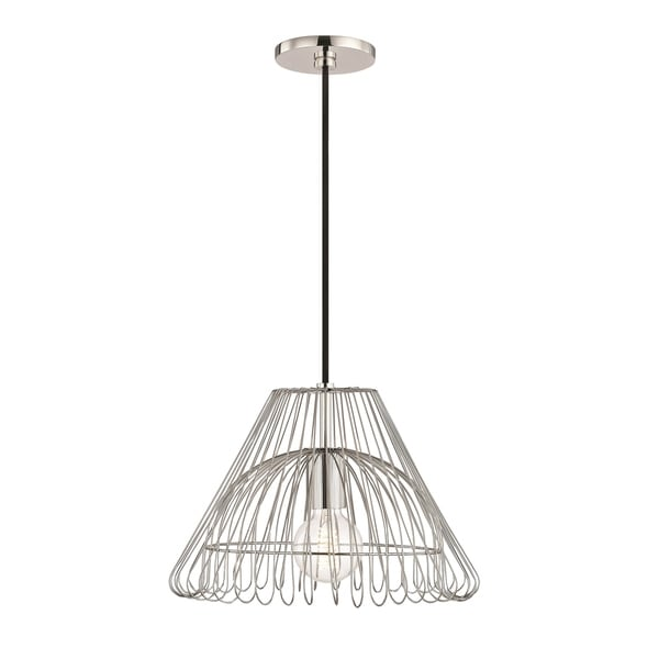 Mitzi by Hudson Valley Katie 1-light Polished Nickel 13-inch Pendant