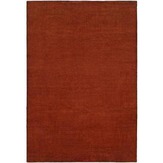 Nova Terra Cotta Red Wool/ Viscose Handmade Area Rug (3'6 x 5'6)