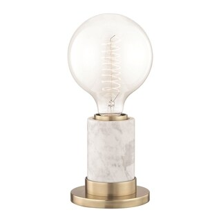 Mitzi by Hudson Valley Asime 1-light Aged Brass Table Lamp