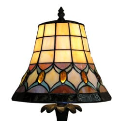 Tiffany-style Jeweled Table Lamp - Thumbnail 2