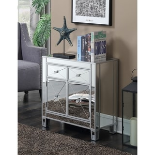Convenience Concepts Gold Coast Vineyard 2 Drawer Mirrored Cabinet