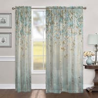 """Laural Home Whimsical Forest 84 Inch Sheer Curtain Panel - 84l""""x50w"""""""