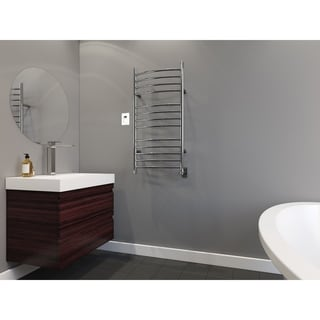 Ancona Svelte Rounded Wall Mount Towel Warmer in Chrome with Timer