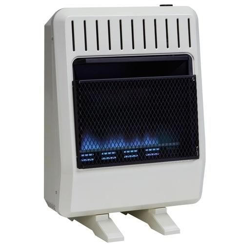 Avenger Dual Fuel Ventless Blue Flame Heater - 20,000 BTU...