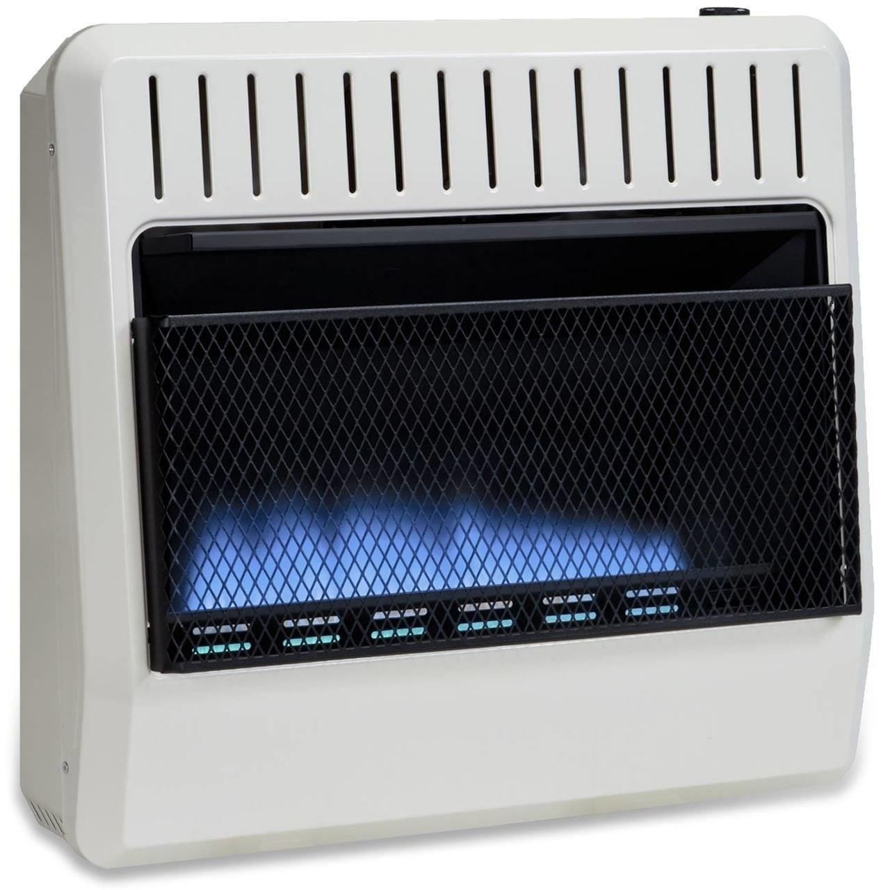 Avenger Dual Fuel Ventless Blue Flame Heater - 30,000 BTU...