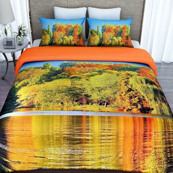 3D Printed Cotton Duvet Cover with 2 Pillowcases-Jungle