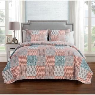 VCNY Home Anna 3-piece Reversible Quilt Set