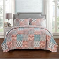 VCNY Home Anna 3-piece Reversible Quilt Set