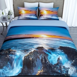 3D Printed Cotton Duvet Cover with 2 Pillowcases