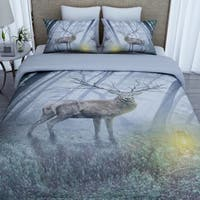 3D Printed Cotton Duvet Cover with 2 Pillowcases-Elk