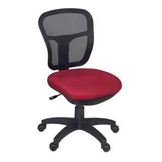 Harrison Armless Swivel Chair- Red