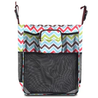 Zodaca Multicolor Chevron Baby Cart Strollers Bag Buggy Pushchair Organizer Basket Storage Bag for Walk Shopping