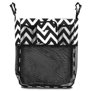 Zodaca Black/ White Chevron Baby Cart Strollers Bag Buggy Pushchair Organizer Basket Storage Bag for Walk Shopping