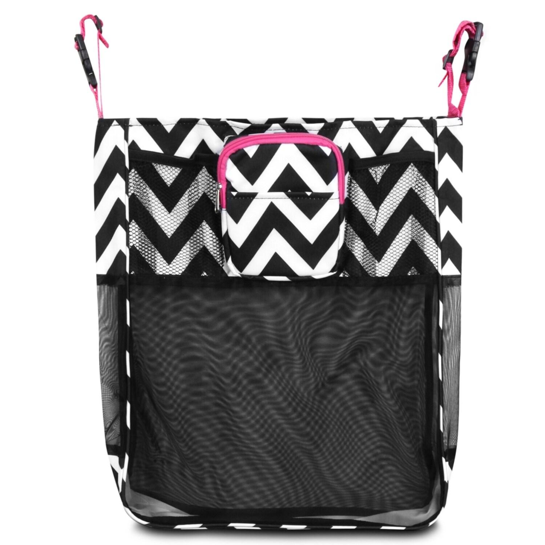 Zodaca Black/ White/ Pink Trim Baby Cart Strollers Bag Bu...