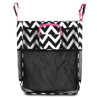 Zodaca Black/ White/ Pink Trim Baby Cart Strollers Bag Buggy Pushchair Organizer Basket Storage Bag for Walk Shopping