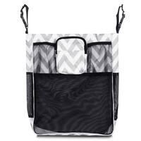 Zodaca Gray/ White Chevron Baby Cart Strollers Bag Buggy Pushchair Organizer Basket Storage Bag for Walk Shopping