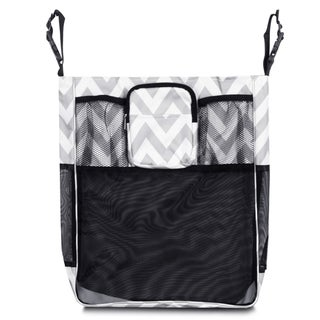 Zodaca Gray/ White Chevron Baby Cart Strollers Bag Buggy Pushchair Organizer Basket Storage Bag for Walk Shopping