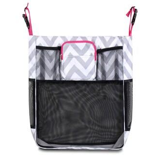 Zodaca Gray/ White/ Pink Trim Baby Cart Strollers Bag Buggy Pushchair Organizer Basket Storage Bag for Walk Shopping