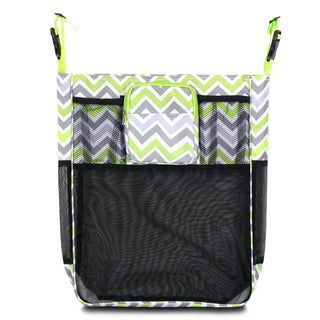 Zodaca Gray/ Green Chevron Baby Cart Strollers Bag Buggy Pushchair Organizer Basket Storage Bag for Walk Shopping