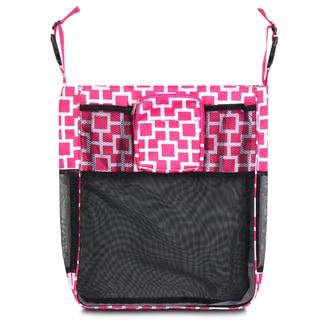 Zodaca Pink/ White Geometric Baby Cart Strollers Bag Buggy Pushchair Organizer Basket Storage Bag for Walk Shopping
