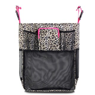 Zodaca Leopard Pink Trim Baby Cart Strollers Bag Buggy Pushchair Organizer Basket Storage Bag for Walk Shopping
