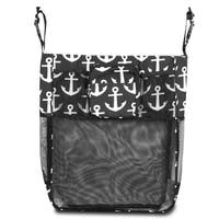 Zodaca Black/ White Anchors Baby Cart Strollers Bag Buggy Pushchair Organizer Basket Storage Bag for Walk Shopping