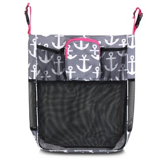 Zodaca Gray Anchors/ Pink Trim Baby Cart Strollers Bag Buggy Pushchair Organizer Basket Storage Bag for Walk Shopping