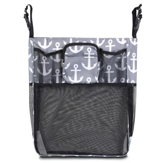 Zodaca Gray/ Black Anchors Baby Cart Strollers Bag Buggy Pushchair Organizer Basket Storage Bag for Walk Shopping