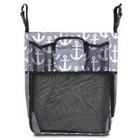Zodaca Gray/ Black Anchors Baby Cart Strollers Bag Buggy Pushchair Organizer Basket Storage Bag for Walk Shopping