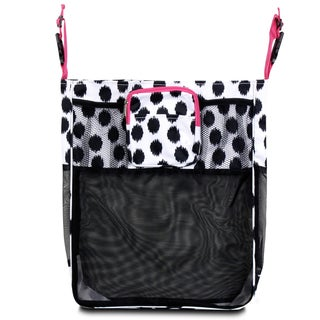 Zodaca Black Dots/ Pink Trim Baby Cart Strollers Bag Buggy Pushchair Organizer Basket Storage Bag for Walk Shopping