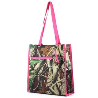 Zodaca Natural Camo Pink Lightweight All Purpose Handbag Zipper Carry Tote Shoulder Bag for Travel Shopping