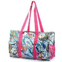 Zodaca Blue Paisley Lightweight All Purpose Handbag Large Utility Shoulder Tote Carry Bag for Camping Travel Shopping