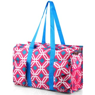 Zodaca Pink Graphic Lightweight All Purpose Handbag Large Utility Shoulder Tote Carry Bag for Camping Travel Shopping
