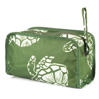 Zodaca Green Turtle Womens Travel Cosmetic Bag Multifunction Toiletry Pouch Makeup Organizer Zip Storage Case