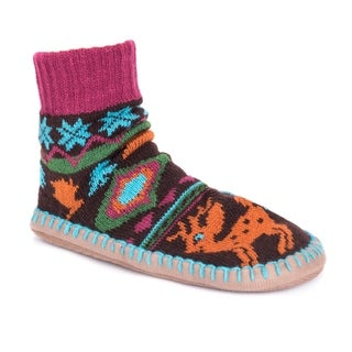 MUK LUKS Women's Short Slipper Socks