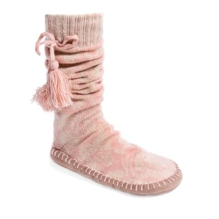 MUK LUKS® Women's Slipper Socks with Poms|https://ak1.ostkcdn.com/images/products/17124452/P23392092.jpg?impolicy=medium