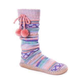 MUK LUKS® Women's Slipper Socks with Poms|https://ak1.ostkcdn.com/images/products/17124647/P23392302.jpg?impolicy=medium