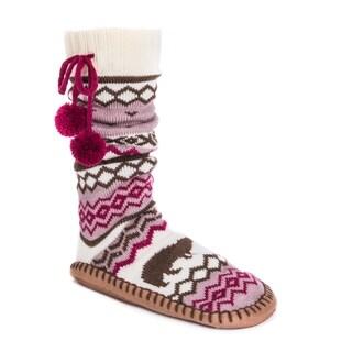 MUK LUKS® Women's Slipper Socks with Poms