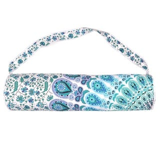 Handmade Mandala Cotton Yoga Mat Bag with Shoulder Strap