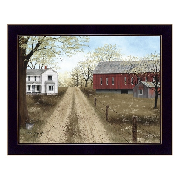 """""""Warm Spring Day"""" By Billy Jacobs, Printed Wall Art, Ready To Hang Framed Poster, Black Frame"""
