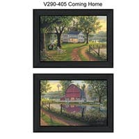 """""""Coming Home Vignette"""" Collection By Kim Norlien, Printed Wall Art, Ready To Hang Framed Poster, Black Frame"""