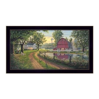 """The Road Home"" By Kim Norlien, Printed Wall Art, Ready To Hang Framed Poster, Black Frame"