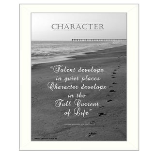 """Character"" By Trendy Decor4U, Printed Wall Art, Ready To Hang Framed Poster, White Frame"